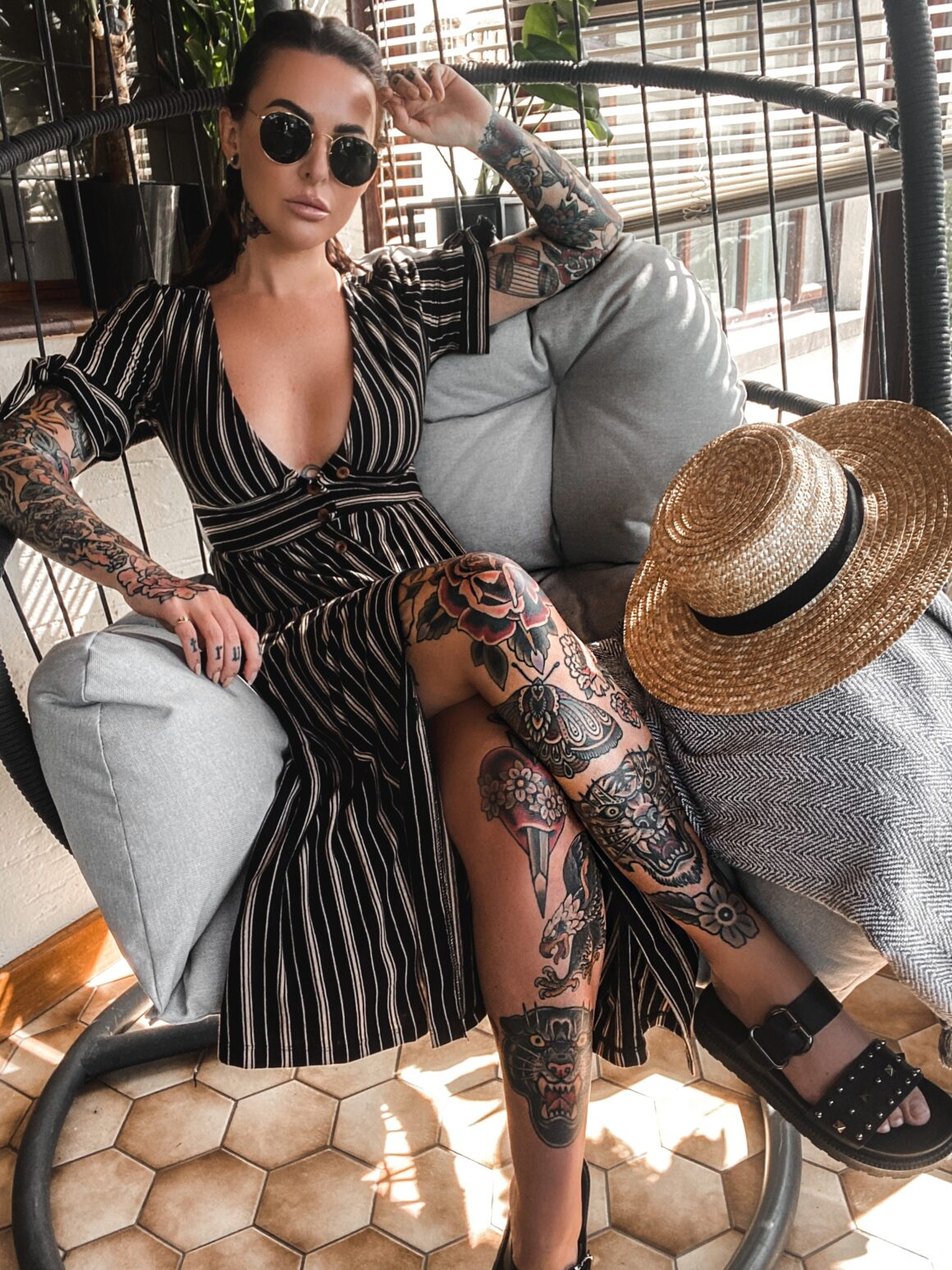 Stefanie tattoo model