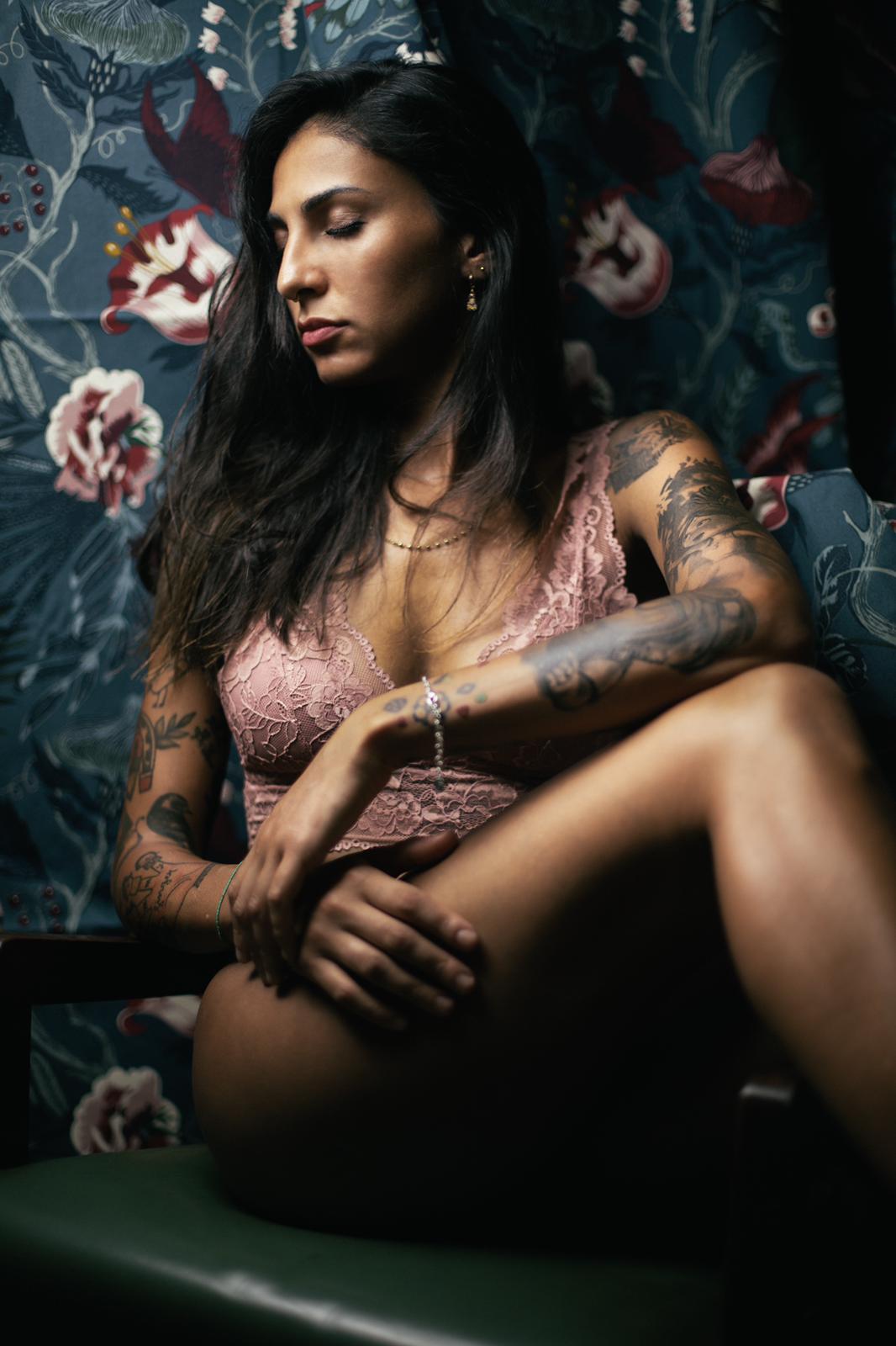 Lally tattoo model