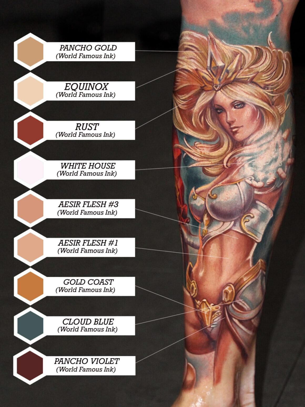 World Famous Ink Color Palette