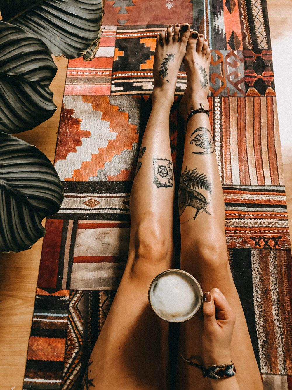 Anna Pompana, tattoo model