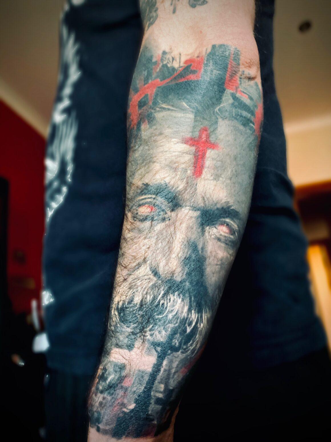 Fernando Ribeiro, Moonspell (tattoo)