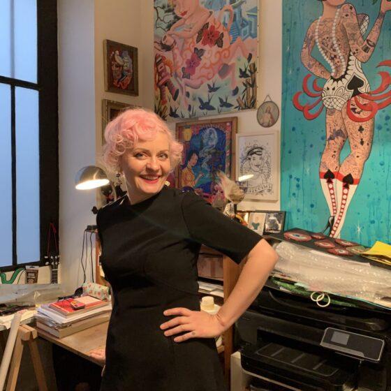 Sunny Buick in her studio, ph. Johanna Pacheco Surriable