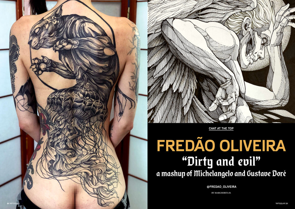 """Fredão Oliveira: """"Dirty and evil"""" a mashup of Michelangelo and Gustave Doré"""