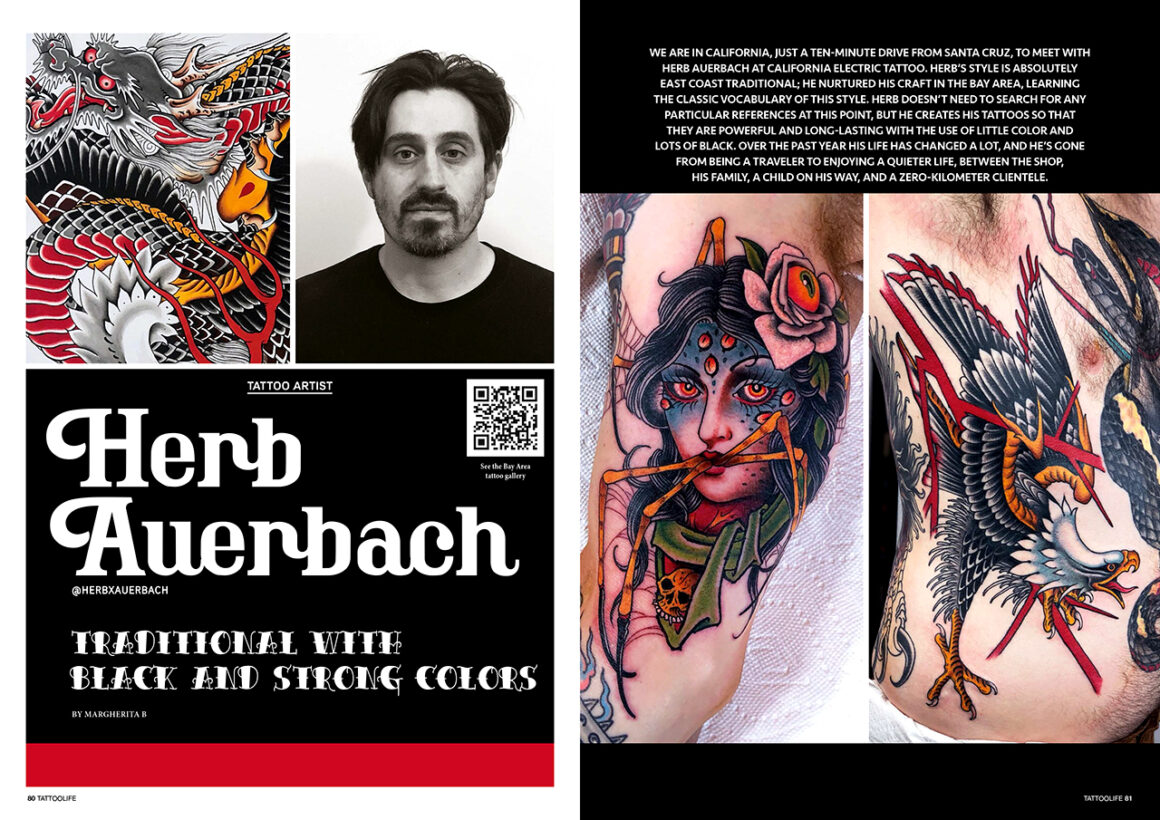 Herb Auerbach: Traditional with black and strong colors