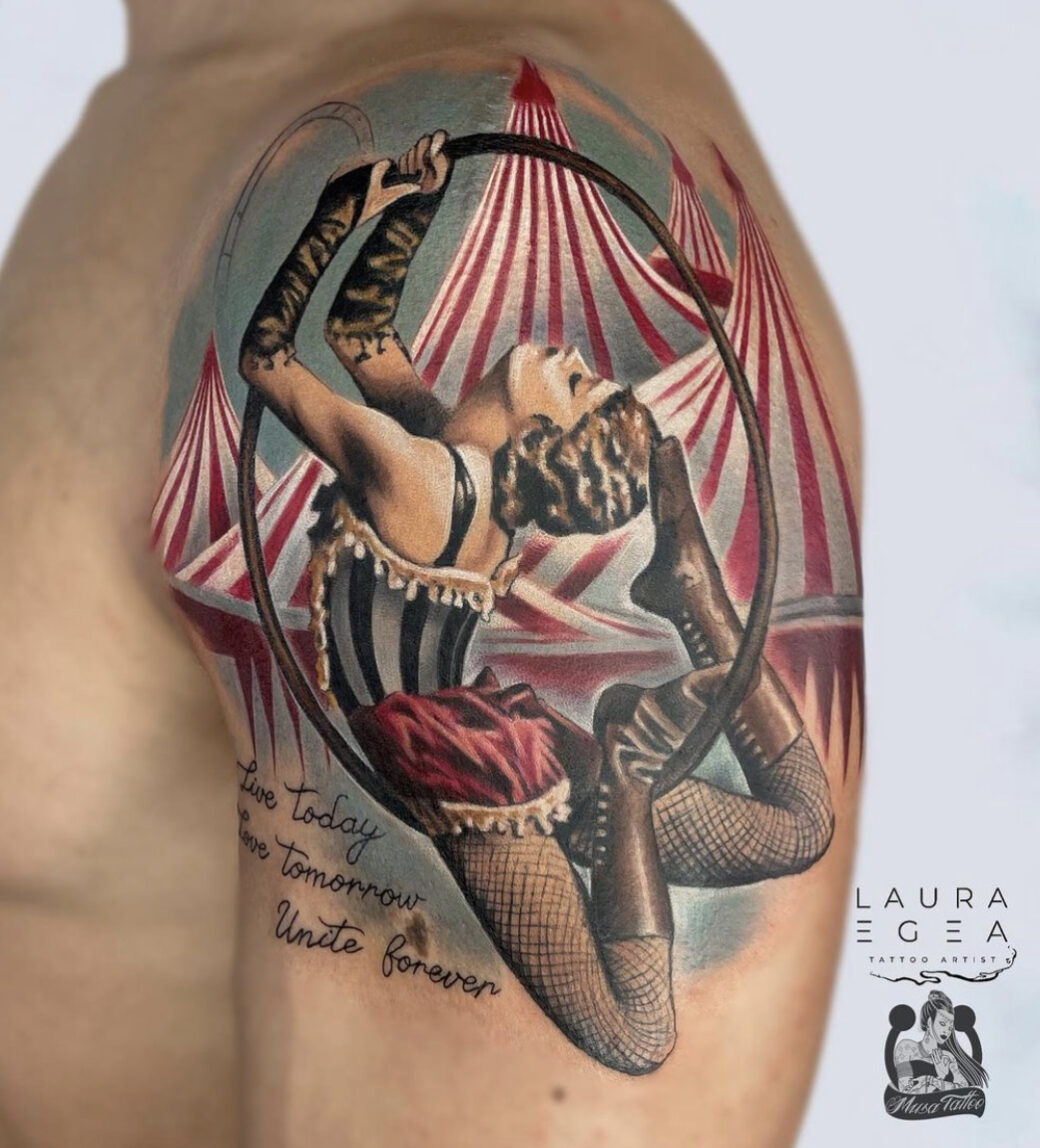 Laura Egea, Musa Tattoo, Cuenca, Spain