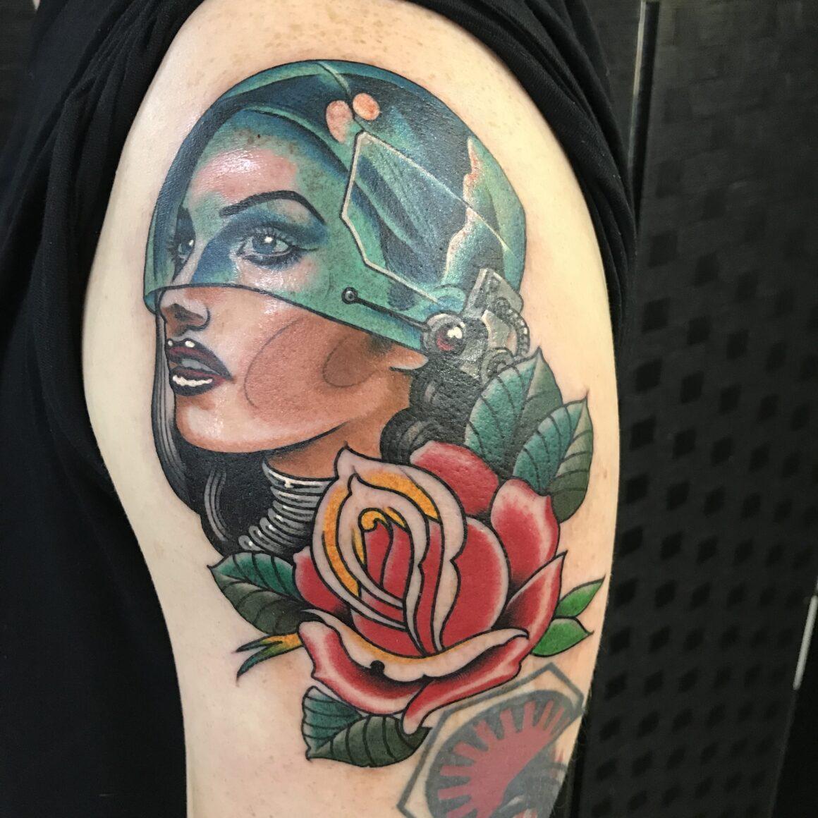 Loz, Circle of Swords Tattoo Studio, Worcester (UK)