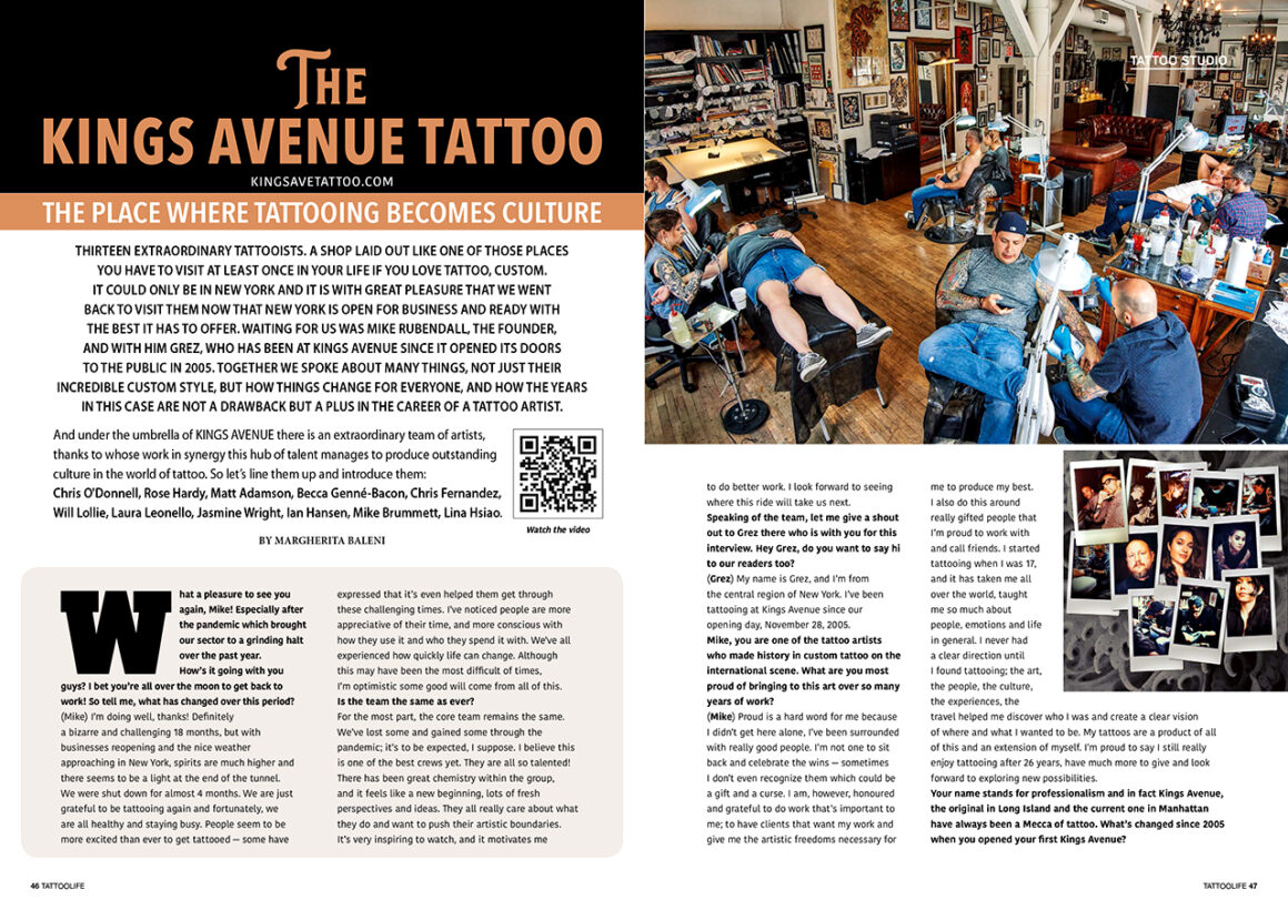 The Kings Avenue Tattoo: The place where tattooing becomes culture