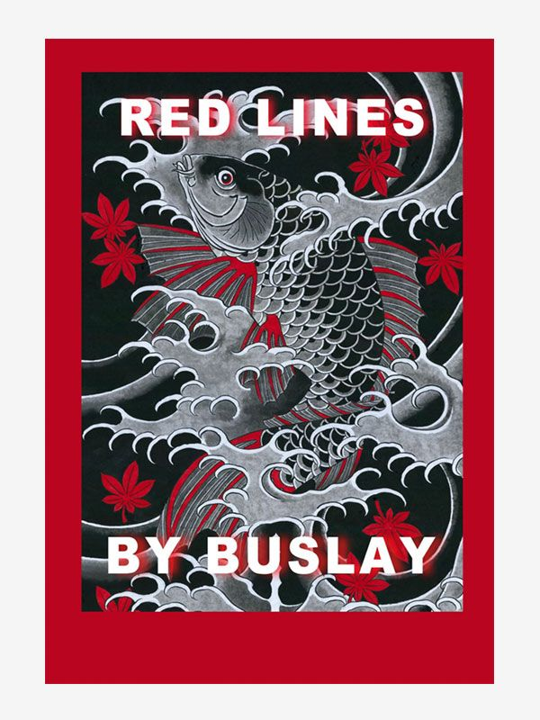 Red Lines and Oriental Tattoos by Sergey Buslay
