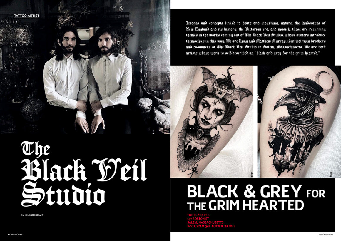 The Black Veil Studio: Black & Grey for the grim hearted