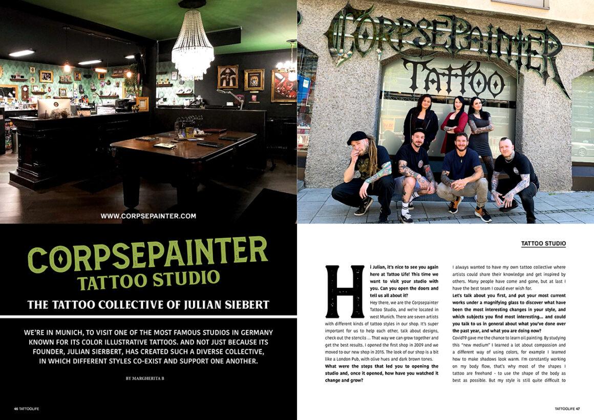 Corpsepainter Tattoo Studio: The Tattoo Collective of Julian Siebert
