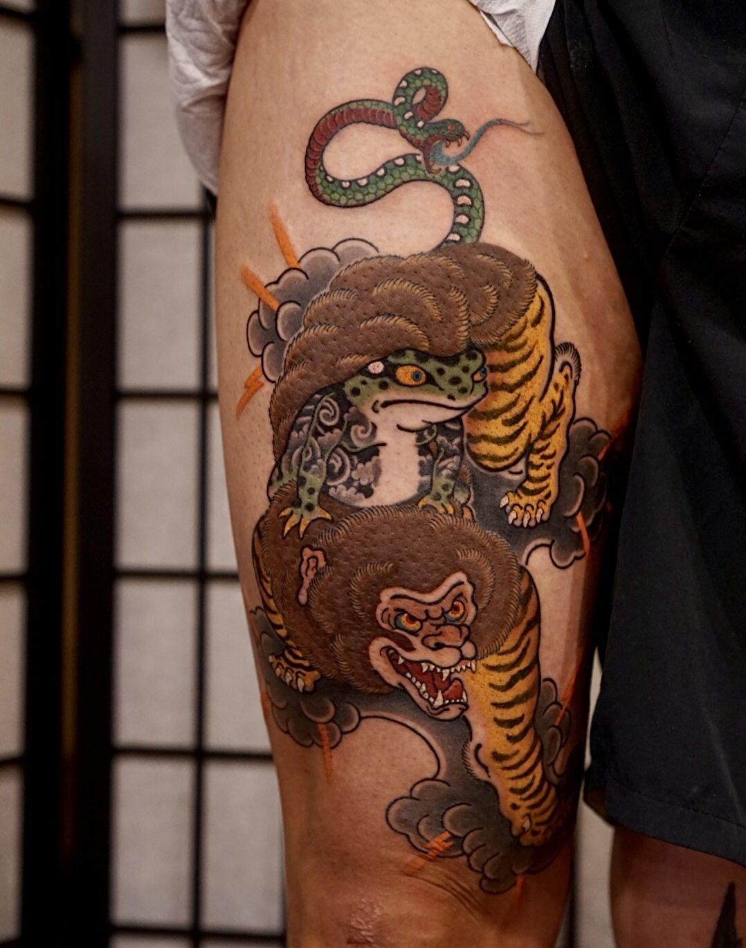 Baki, Qsun and Taymon Tattoo Studios, Busan, South Korea