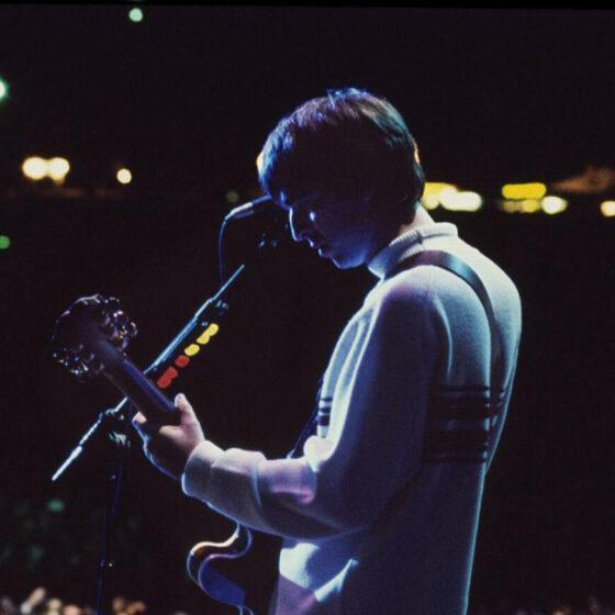 Oasis, photo by Jill Furmanovsky OA Knebworth 10 Aug 96
