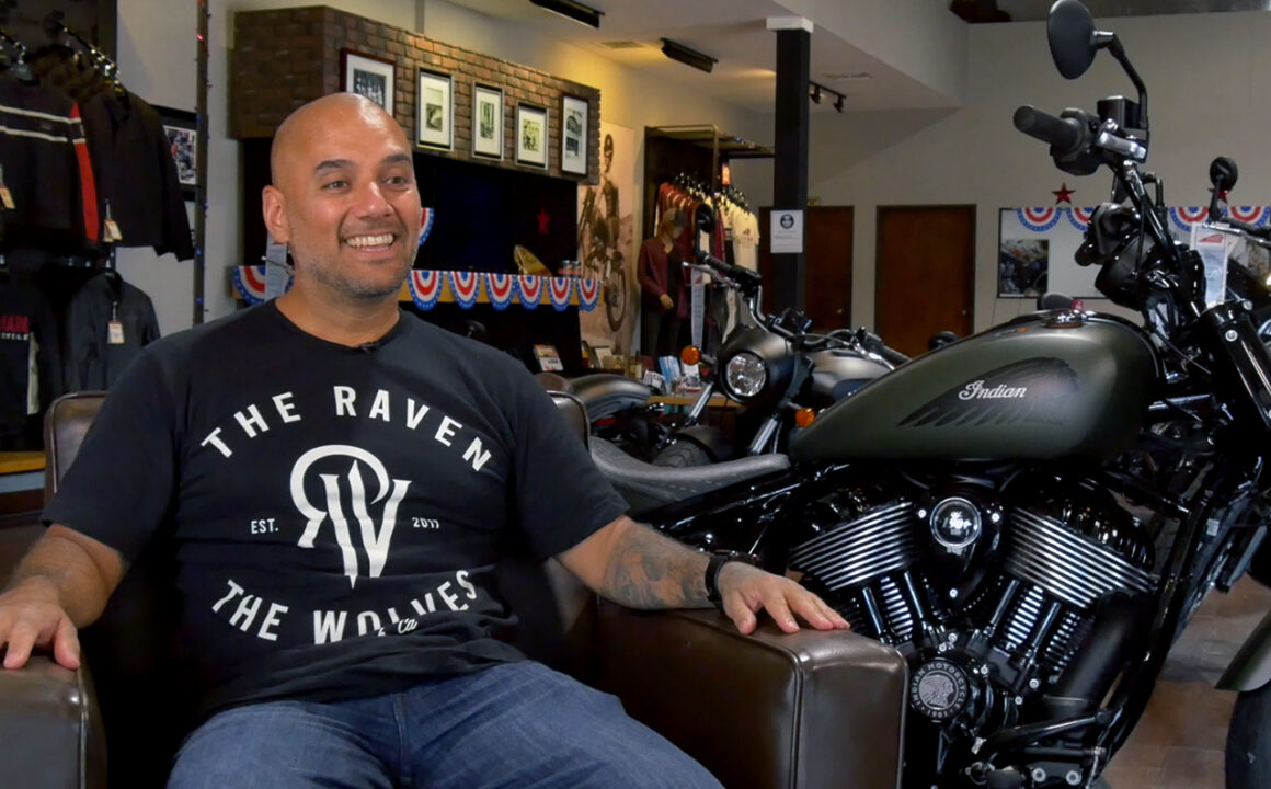 Carlos Torres with Indian Motorcycle X No Regrets