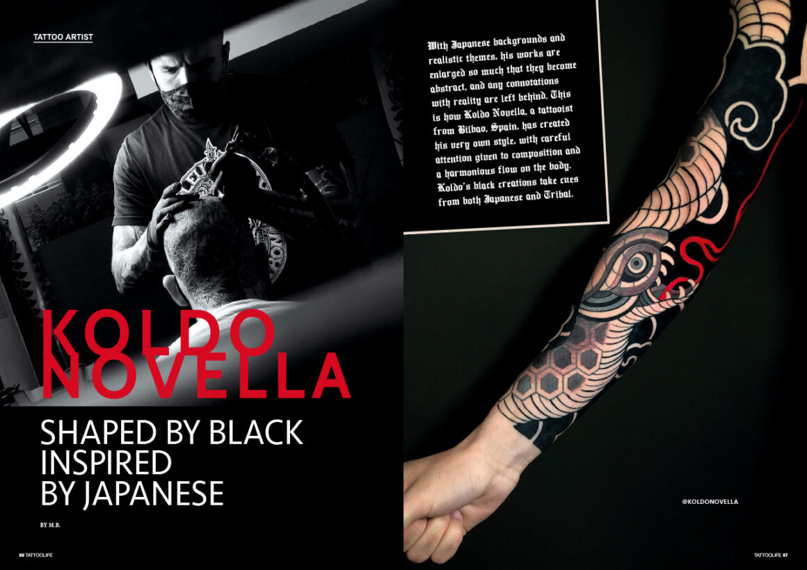 Koldo Novella: Shaped by black, inspired by Japanese